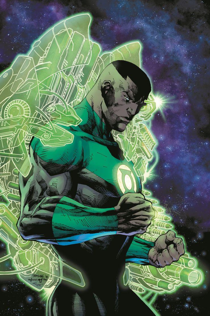 Green Lantern: John Stewart – A Celebration of 50 Years, copertina di Jim Lee