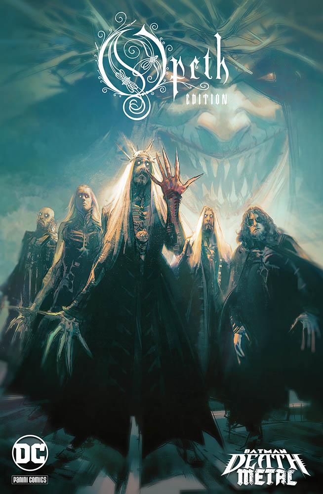 Batman: Death Metal 4, variant Opeth di Mathieu Lauffray