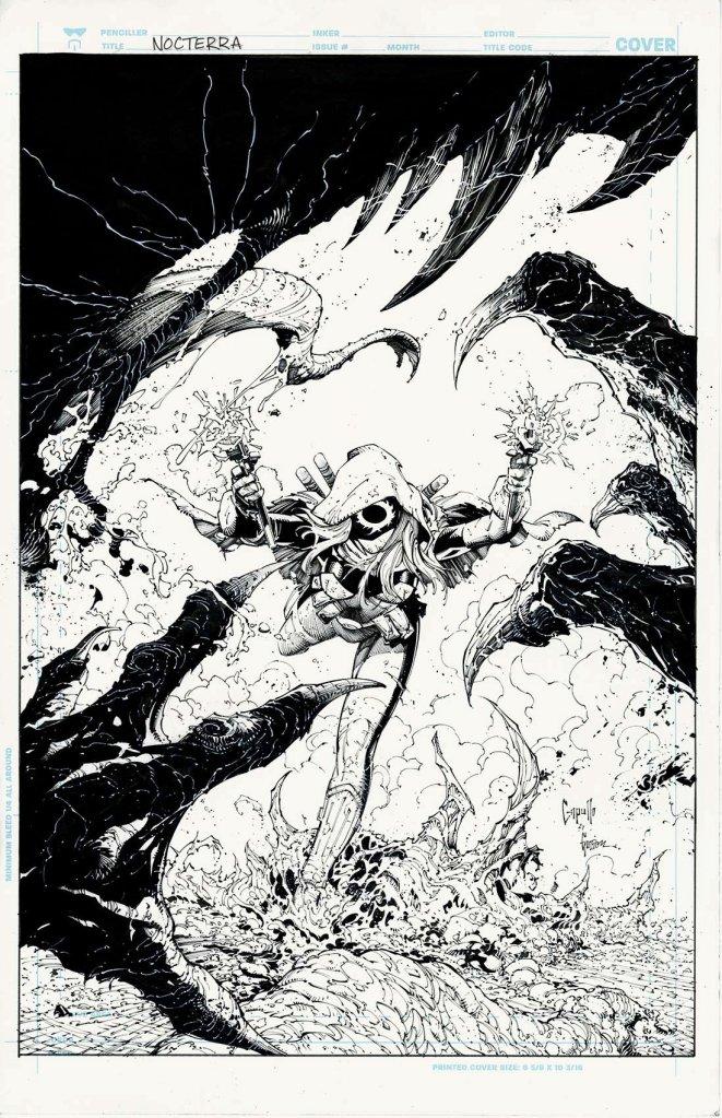 Nocterra #1, variant cover di Greg Capullo (chine)
