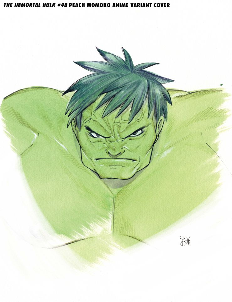 Immortal Hulk #48, variant cover di Peach Momoko
