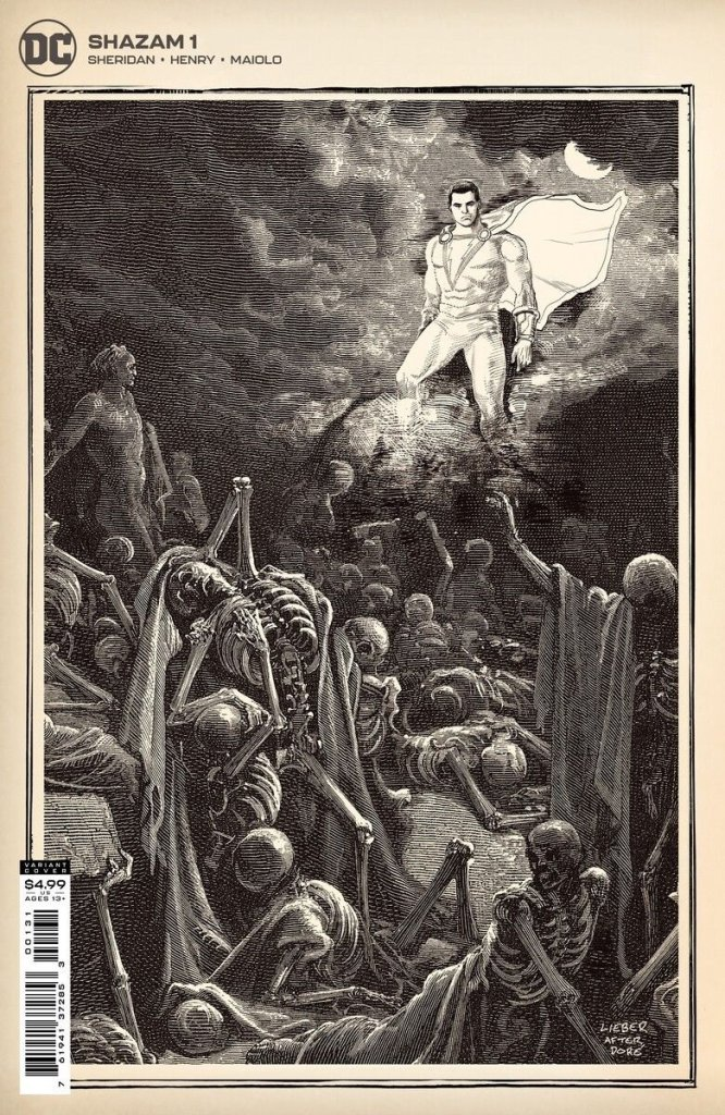 Shazam #1, variant cover di Steve Lieber