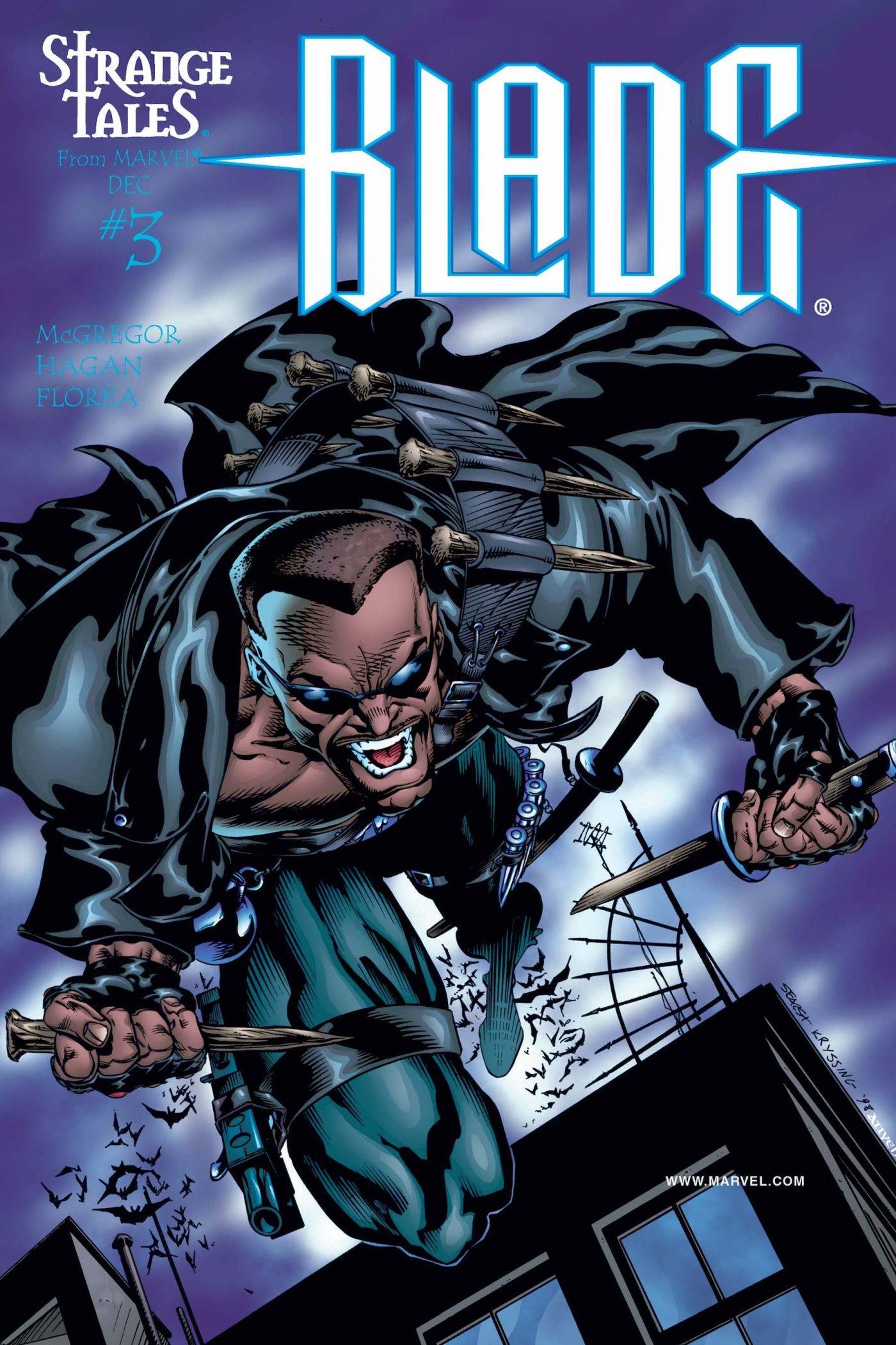 Strange Tales: Blade #3, copertina di Bart Sears
