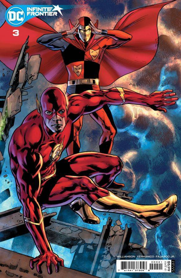 Infinite Frontier #3, variant cover di Bryan Hitch