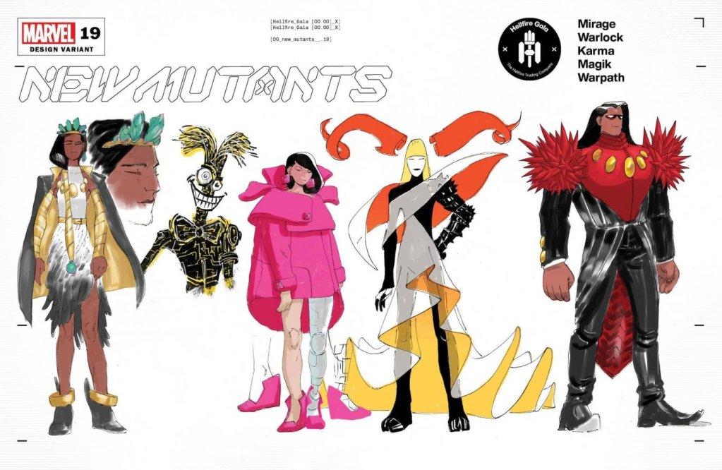 New Mutants #19, variant cover di Alex Lins