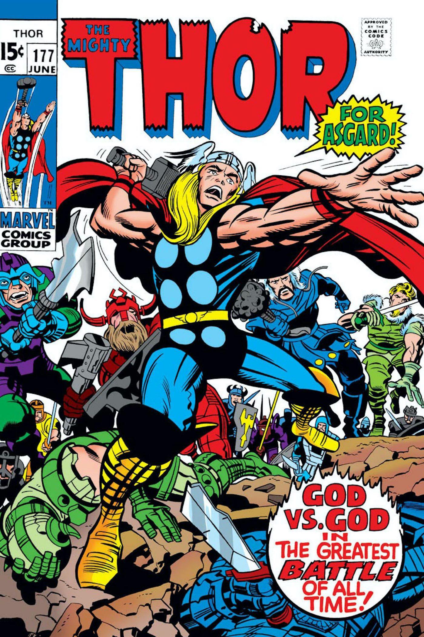 Thor #177, copertina di Jack Kirby
