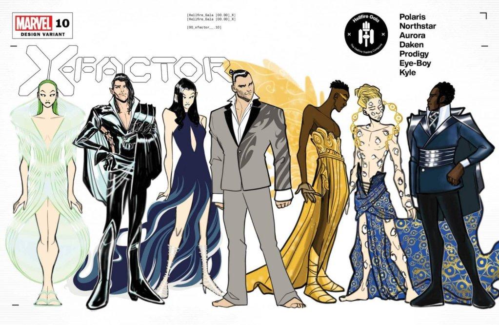 X-Factor #10, variant cover di David Baldeon