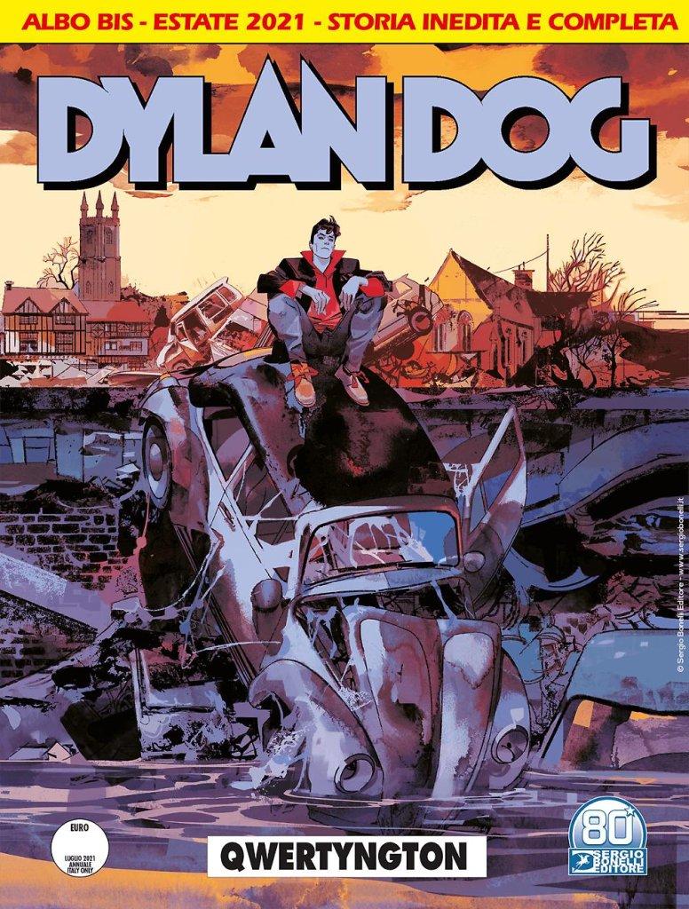 Dylan Dog 418 BIS: Qwertyngton, copertina di Gigi Cavenago