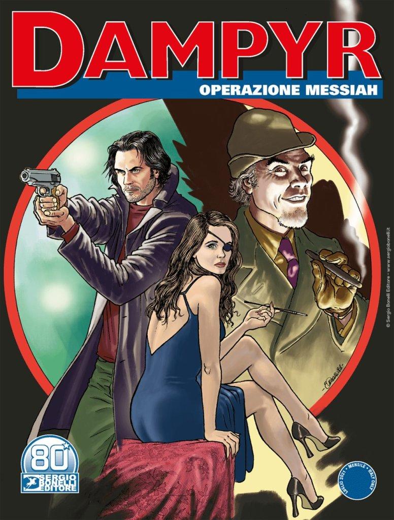Dampyr 256: Operazione Messiah (luglio 2021), copertina di Enea Riboldi