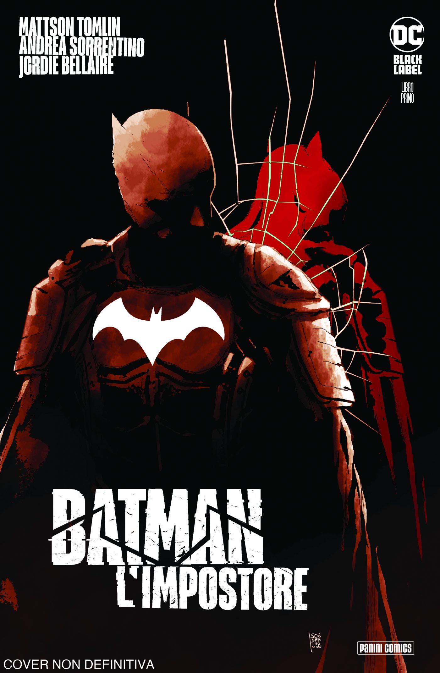 Batman: L'impostore 1, copertina di Andrea Sorrentino