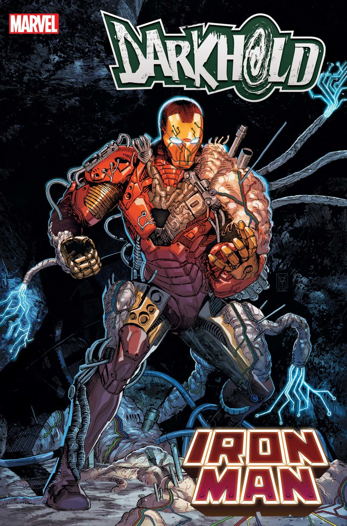 Darkhold: Iron Man #1, copertina di Valerio Giangiordano