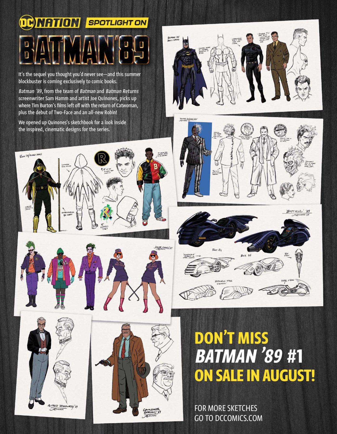Batman '89, character design Joe Quinones