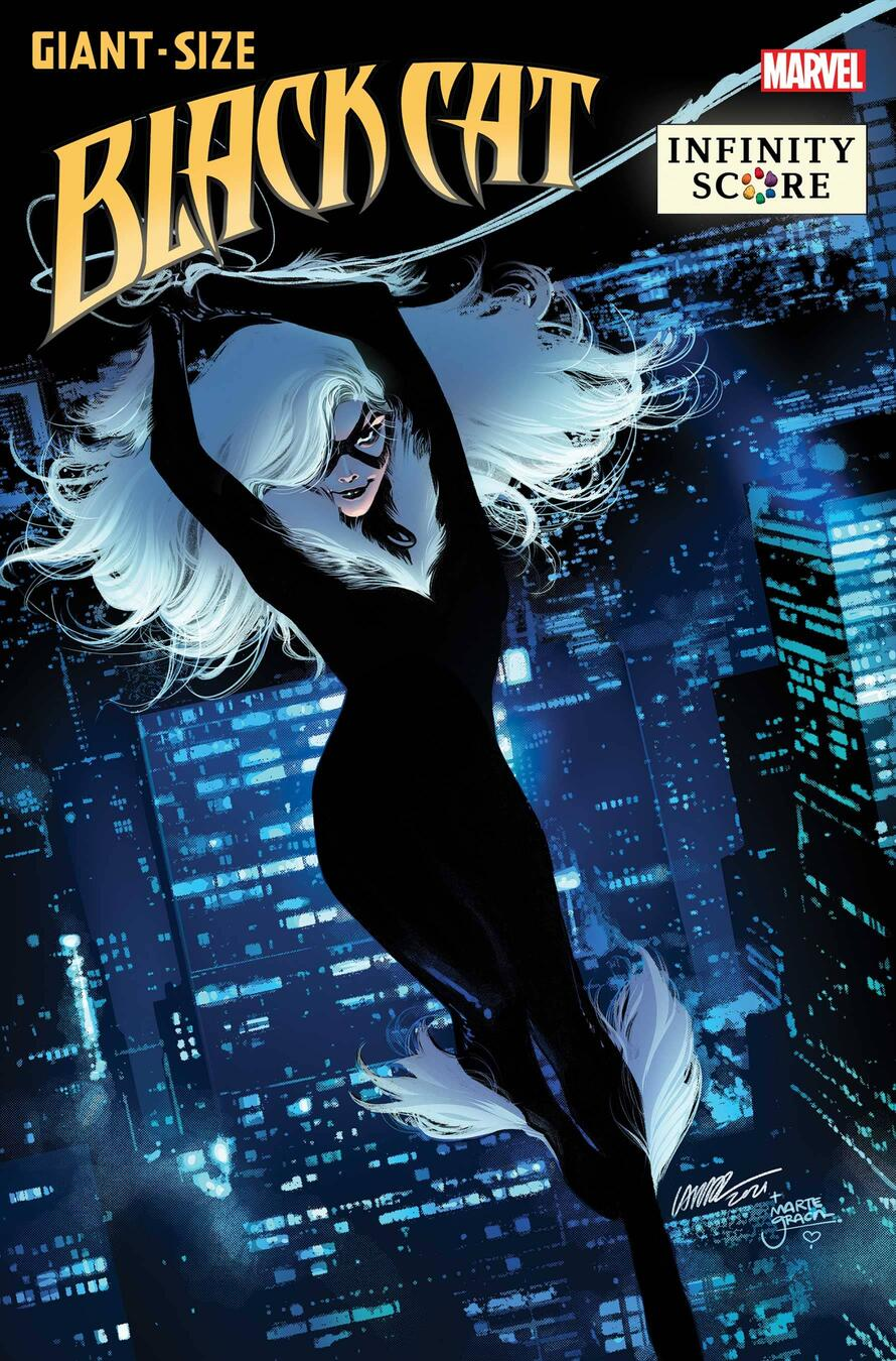 Giant-Size Black Cat: Infinity Score #1, copertina di Pepe Larraz