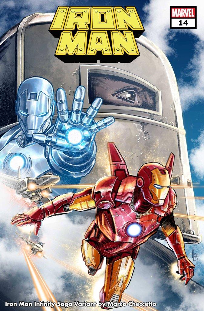 Iron Man #14, variant cover di Marco Checchetto