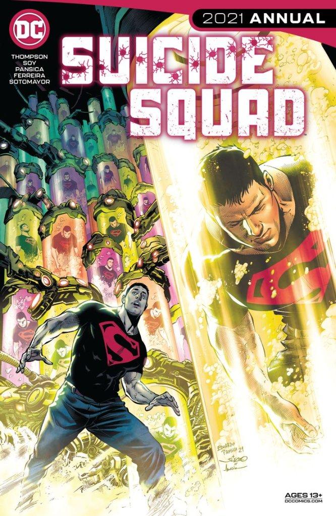 Suicide Squad Annual #1, copertina di Julio Ferreira