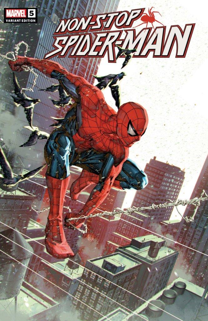 Non-Stop Spider-Man #5, copertina di Kael Ngu