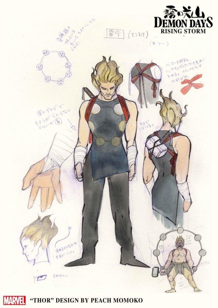 Demon Days: Rising Stormo, Thor, character design