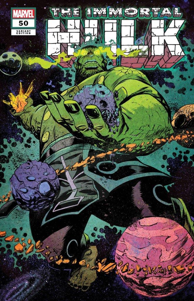 Immortal Hulk #50, variant cover di Sanford Greene