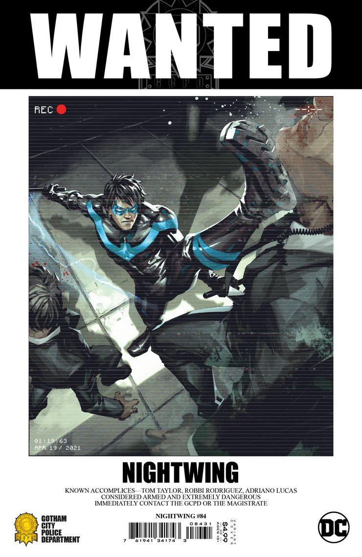 Nightwing #84, variant cover di Kael Ngu