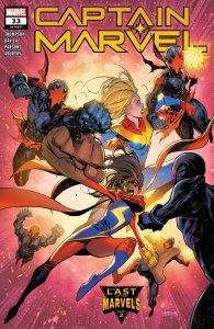 Captain Marvel #33, copertina di Iban Coello
