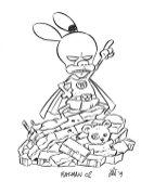 Bozzetto frontale Rat-Man