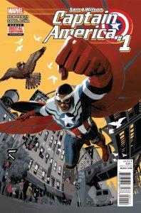 Sam Wilson, Captain America #1, copertina di Daniel Acuna