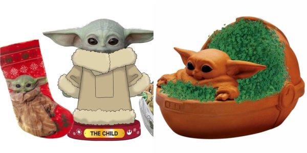 Baby Yoda Merch Natale Schiaccianoci e Calze