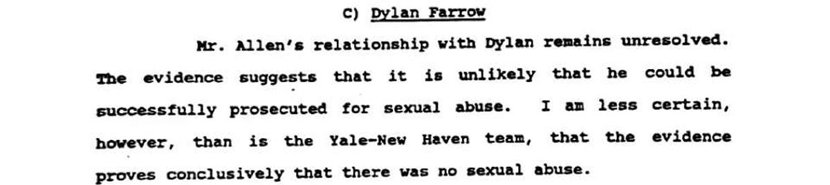 Sentenza Allen-Farrow-Conclusioni