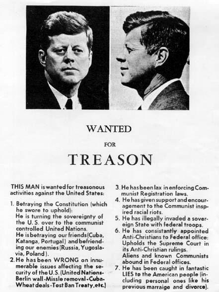 JFK Wanted for treason