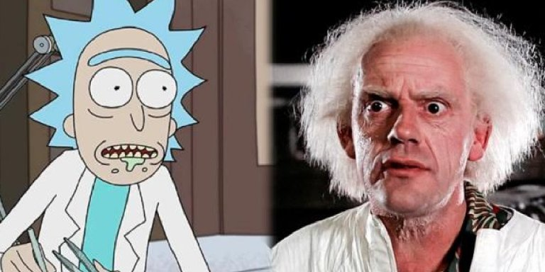 doc brown rick and morty christopher lloyd