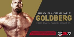 WWE 2K17 Goldberg banner