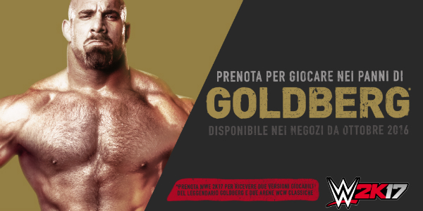 WWE 2K17 Goldberg banner