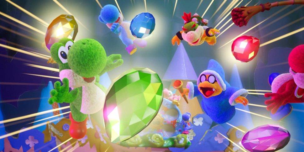 Yoshi's Crafted World megaslide