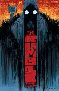 Rumble vol. 1: Che colore ha l'oscurità?, copertina di James Harren