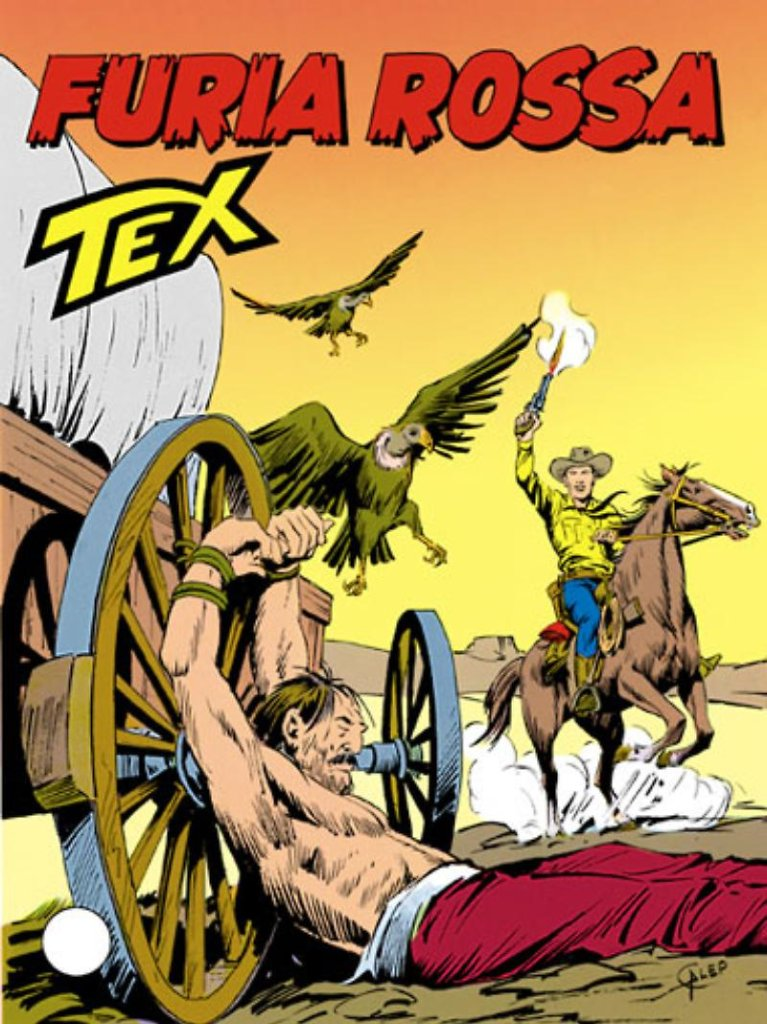 Tex 385: Furia rossa, copertina di Aurelio Galleppini