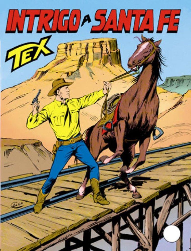 Tex 393: Intrigo a Santa Fe, copertina di Aurelio Galleppini
