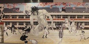 Shonen Jumaga Gakuen: il murale di Shibuya