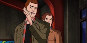Supernatural: in una scena eliminata di 'Scoobynatural' Castiel è… un cameriere