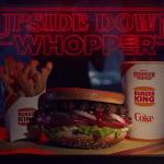 Stranger Things: Burger King realizza una versione 'sottosopra' del Whopper