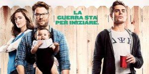 Una festa a tema Robert DeNiro nella nuova clip italiana di Cattivi Vicini