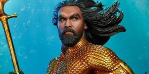 Aquaman: la statua di Arthur Curry della Sideshow Collectibles mostrata in un video