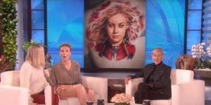 Avengers: Endgame, ecco la reazione di Brie Larson e Scarlett Johansson ad alcuni tatuaggi dei fan ispirati all'UCM