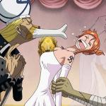 One Piece: le statue di Hancock, Nami, Vivi e Perona in abito da sposa