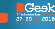 BGeek, presentata l'edizione 2016: tra gli ospiti Gabriele Mainetti, Roberto Recchioni e i The Pills
