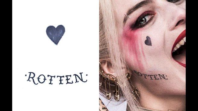 suicide squad i dettagli dei tatuaggi di harley quinn