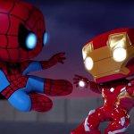 I Funko POP! di Iron Man e Spider-Man in lotta contro Loki in un simpatico video animato