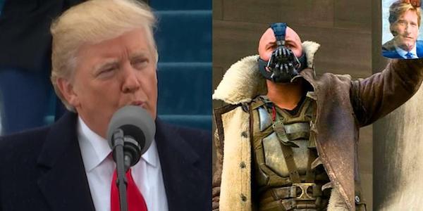 Donald Trump cita involontariamente Bane nel discorso dell'inaugurazione