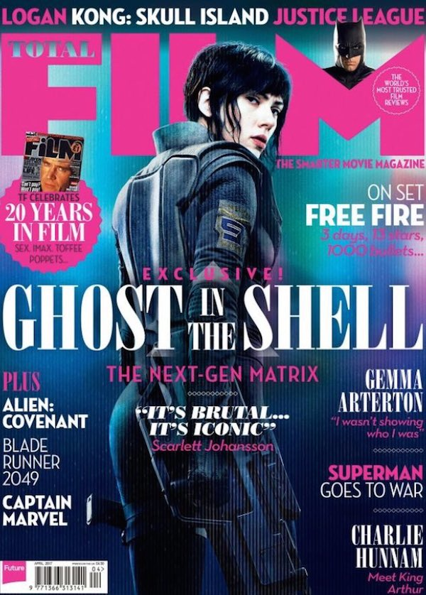 Ghost in the Shell copertina Total Film