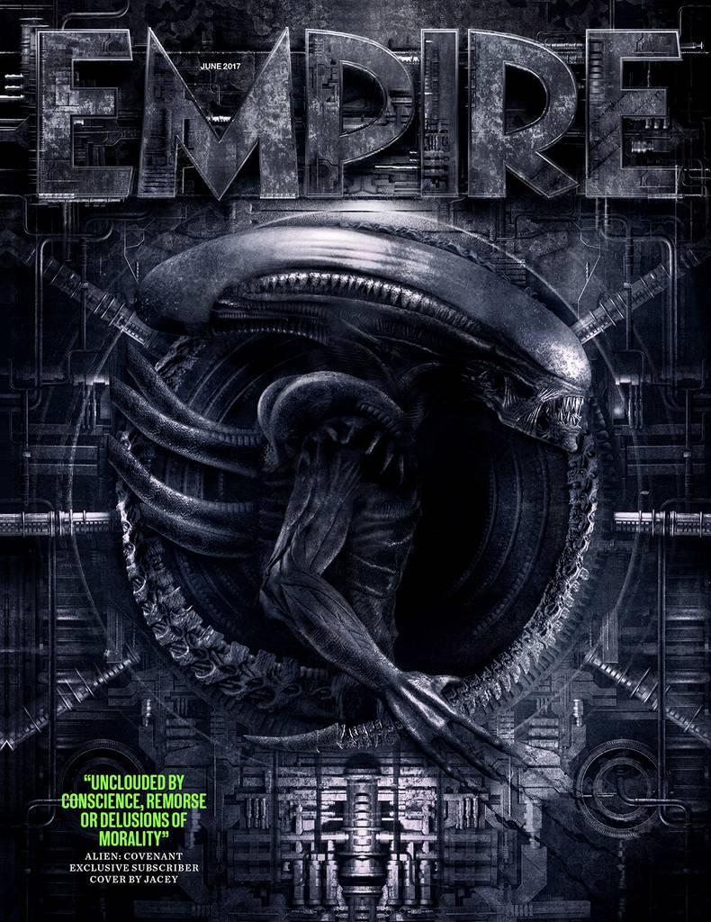 Il terrificante Xenomorfo di Alien: Covenant nella cover ufficiale di Empire Magazine