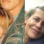 Terminator: Arnold Schwarzenegger e Linda Hamilton ieri e oggi in una foto dal backstage del film