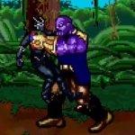 Avengers: Infinity War, Thanos contro gli eroi sulla Terra in una scena ricreata in 16 Bit